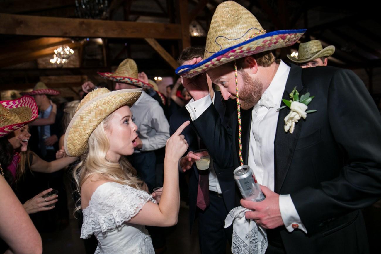 bride singing to groom