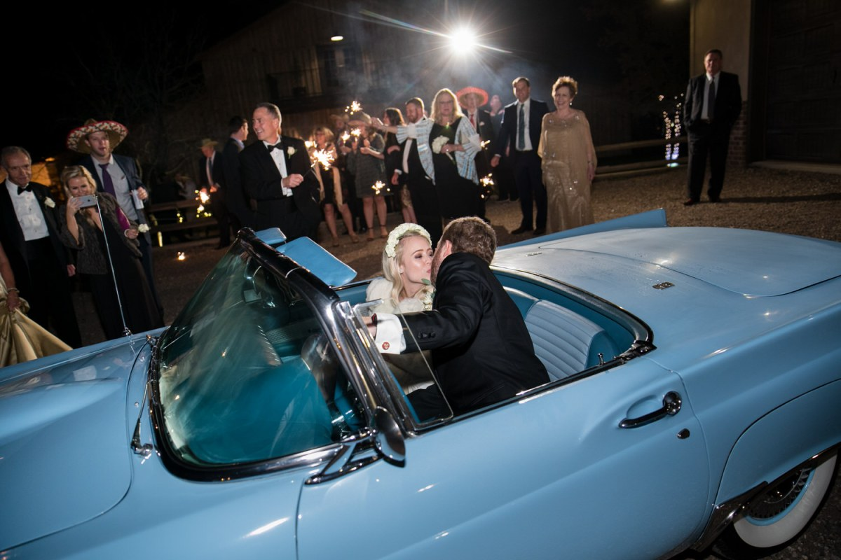 thunderbird wedding getaway car