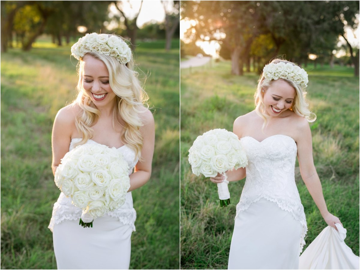 lubbock bridal session in the field