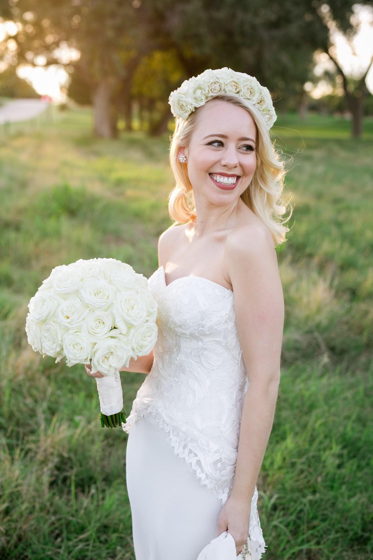 lubbock outdoor bridal portrait