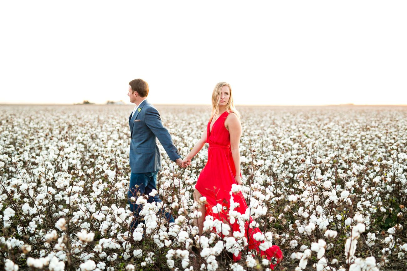 lubbock cotton engagement photos