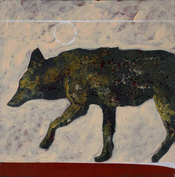 Coyote, Painting by Nocona Burgess, Camanche Artist