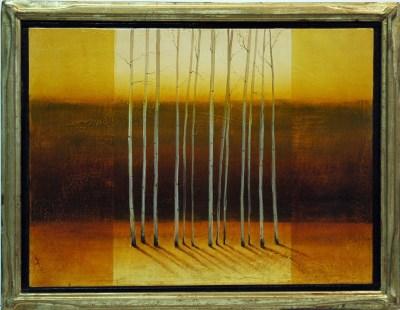 Framed Painting of Aspen Trees