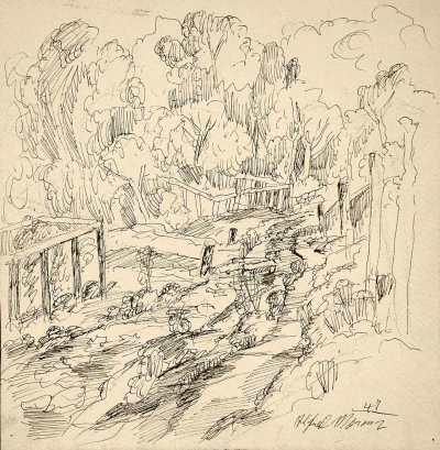 Drawing by Alfred Morang