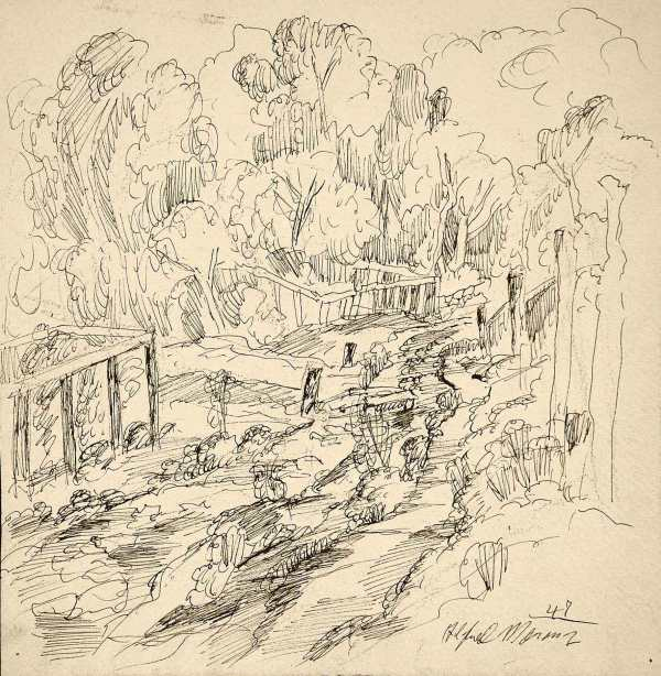 Drawing by Alfred Morang