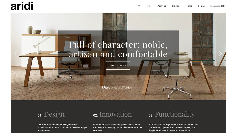 A unique website for a unique company