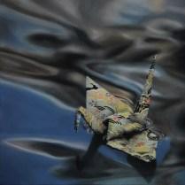 """""""Crane #4"""", Oil on Linen, 12""""x12"""" SOLD"""