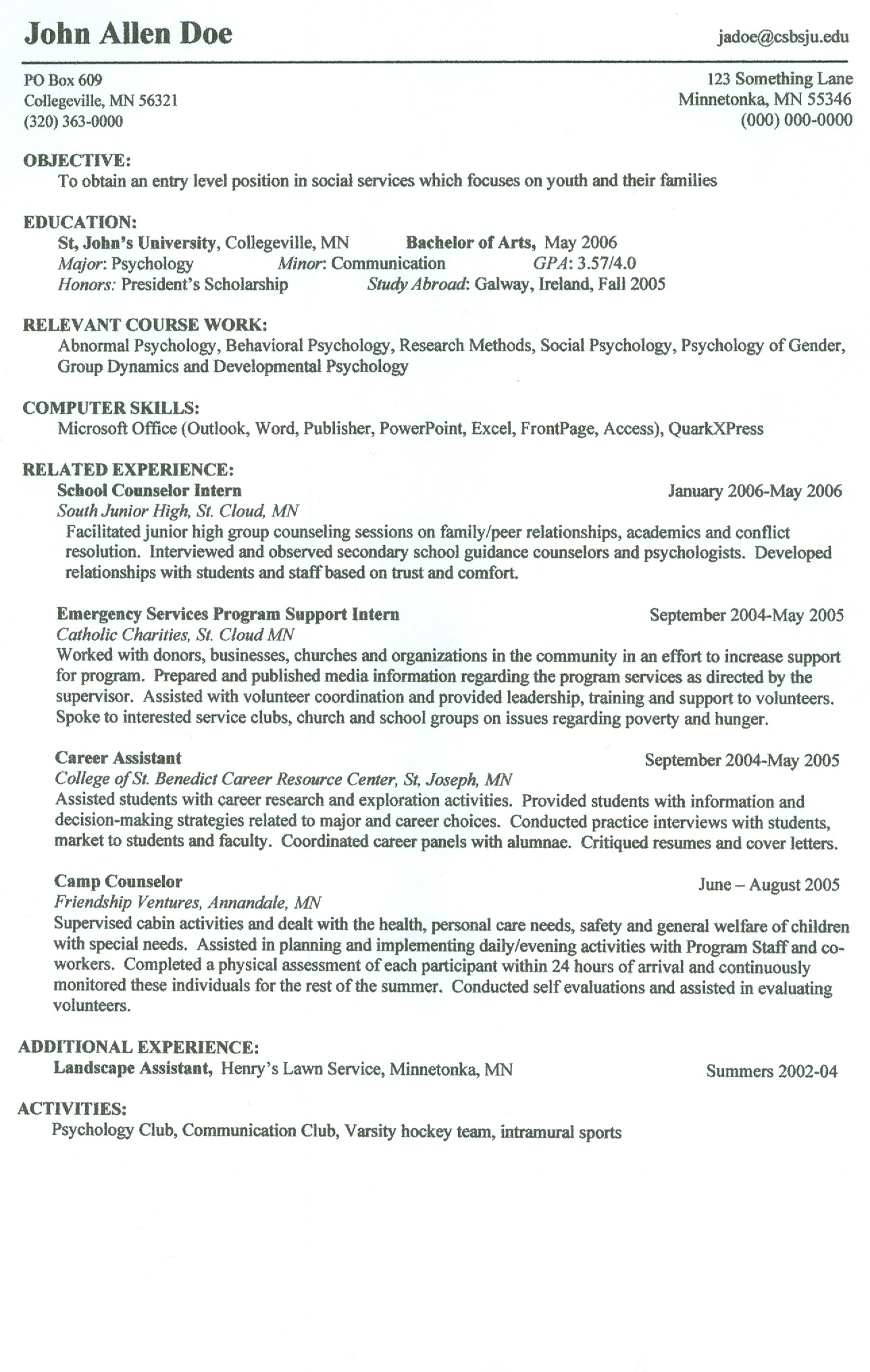 show a resume template how to create a resume template show me a cover letter show - Author Resume Sample