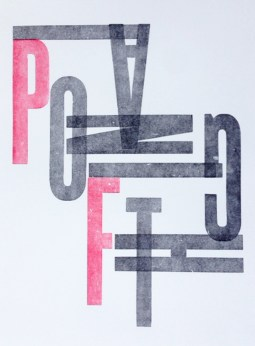 PianoFight Letterpress Poster
