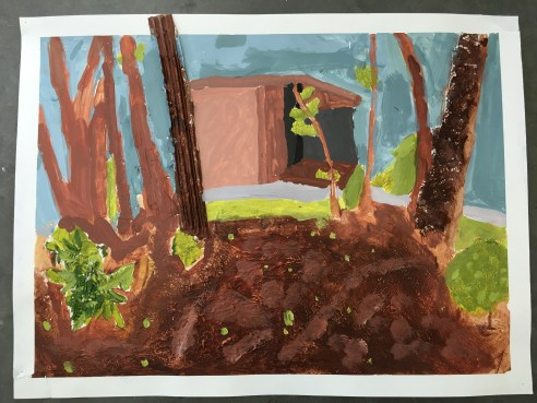 Claire's Mixed Media Landscape Painting