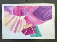 Josh's O'Keeffe Flower Watercolor