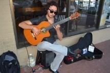Eran Polat performs around Huntington Village, often in front of the Starbucks on Wall St. Photo credit/ Andrew Wroblewski