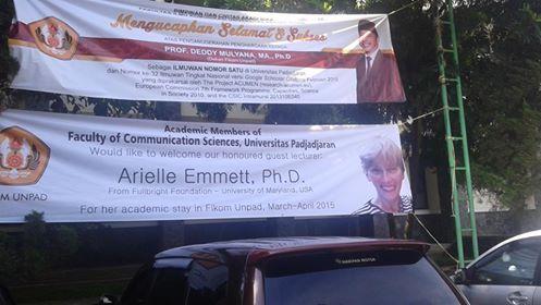 A grand welcome at Universitas Padjadjaran, West Java, Indonesia 2015