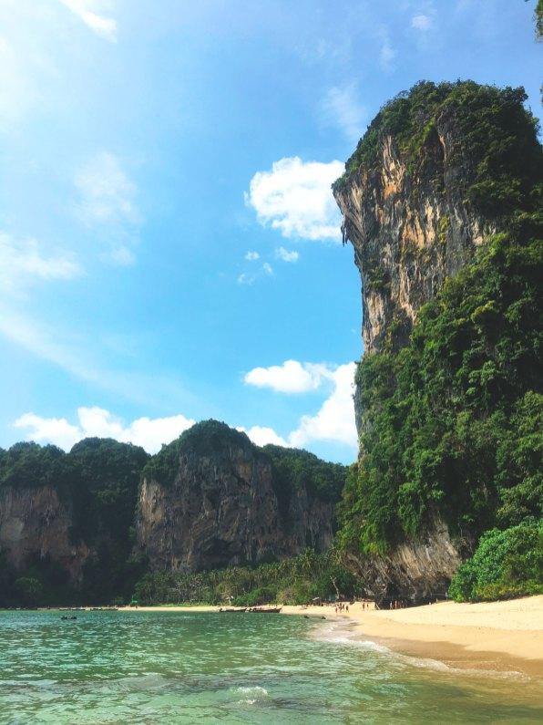 Limestone cliffs at Tonsai Beach, Krabi