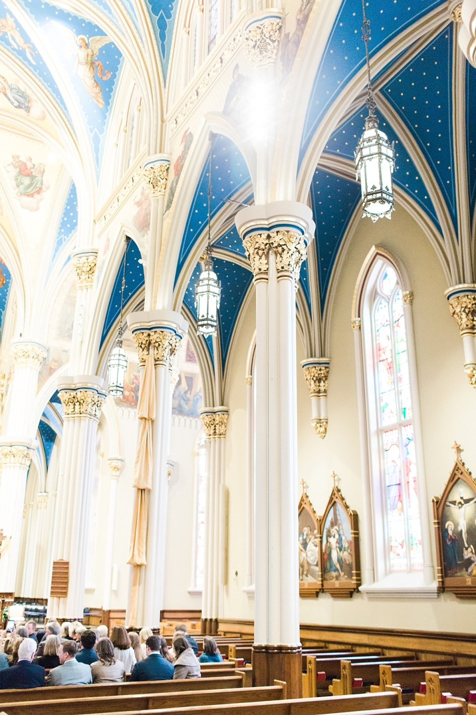 Arielle Peters Photography | Wedding day at the Basilica of the Sacred Heart in Notre Dame, Indiana.