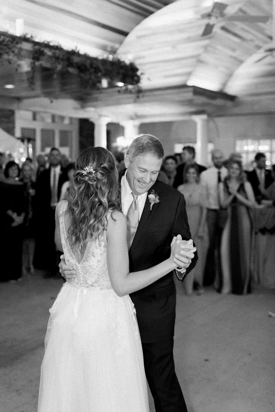 Arielle Peters Photography | Father of the bride and bride sharing a dance at wedding reception at Sycamore Hills Golf Club in Fort Wayne, Indiana on wedding day.