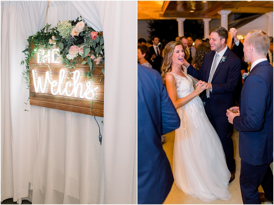 Arielle Peters Photography | Bride and groom dancing at wedding reception at Sycamore Hills Golf Club in Fort Wayne, Indiana on wedding day.