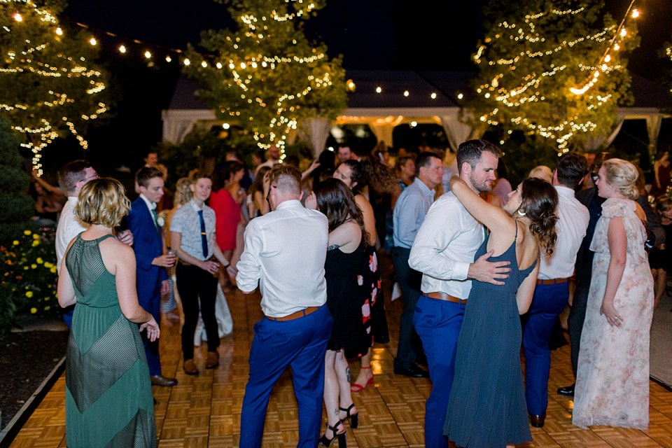 Arielle Peters Photography | Wedding guests dancing at wedding reception at The Bridgewater Club in Carmel, Indiana on wedding day.