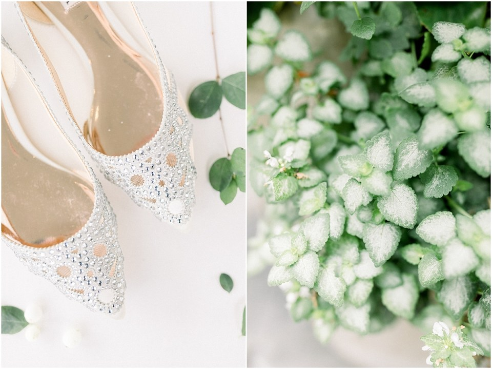Arielle Peters Photography | Wedding shows and greenery at The Bridgewater Club in Carmel, Indiana on wedding day.