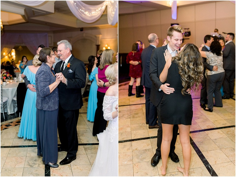Arielle Peters Photography | Mother and Father of the groom sharing a dance at the fall wedding reception.