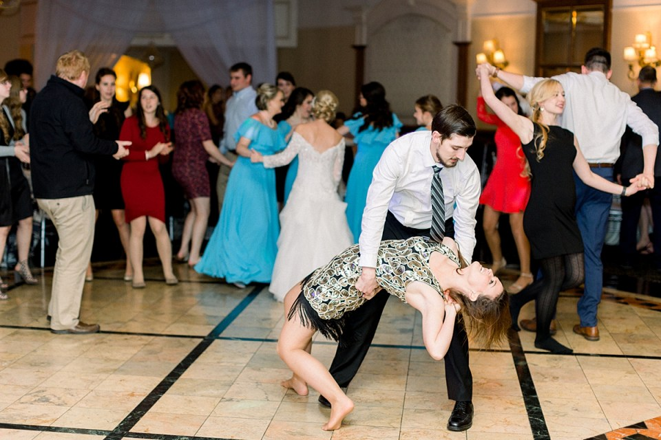 Arielle Peters Photography | Wedding guests dancing and having fun at fall wedding reception.