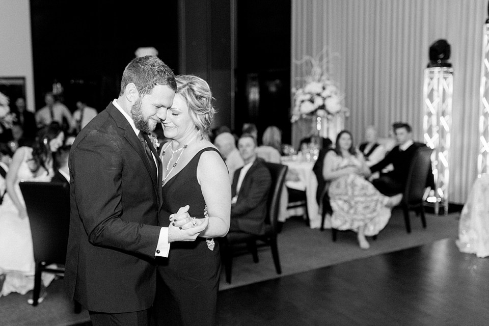 Arielle Peters Photography | Groom sharing a dance with the mother of the groom at wedding reception.