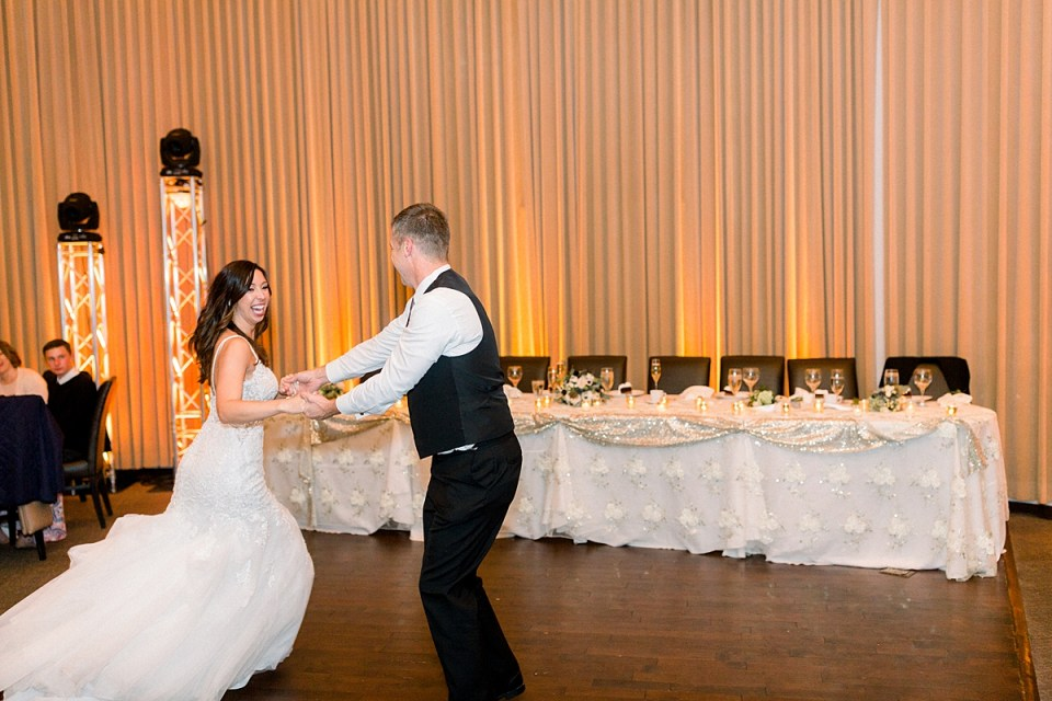 Arielle Peters Photography | Bride and father of the bride dancing at the wedding reception