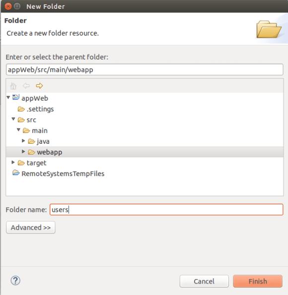 Crear Folder
