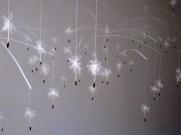 """ Wind Whisperers "" Plastic, paper, string, wood 36""x72""x24"""