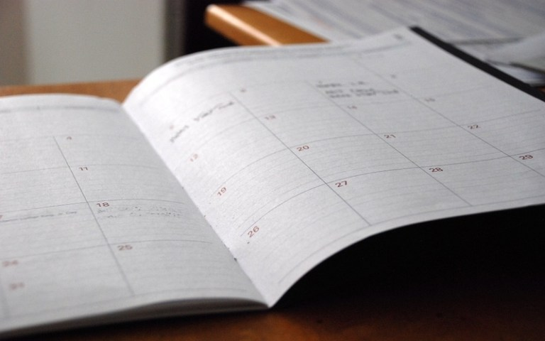 Picture of a day planner
