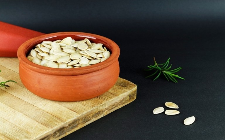Bowl of pumpkin seeds