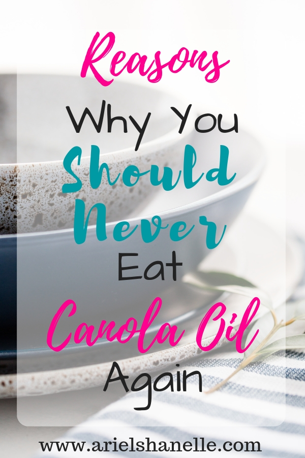 Canola oil pinterest pin