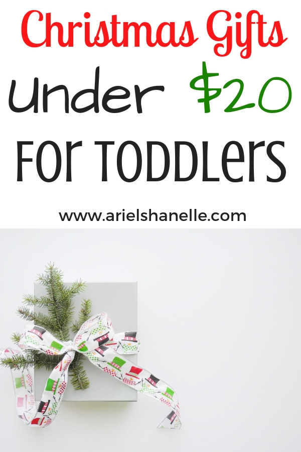 Christmas Gifts under $20 for toddlers. Make Christmas shopping affordable this year and stick to your budget!