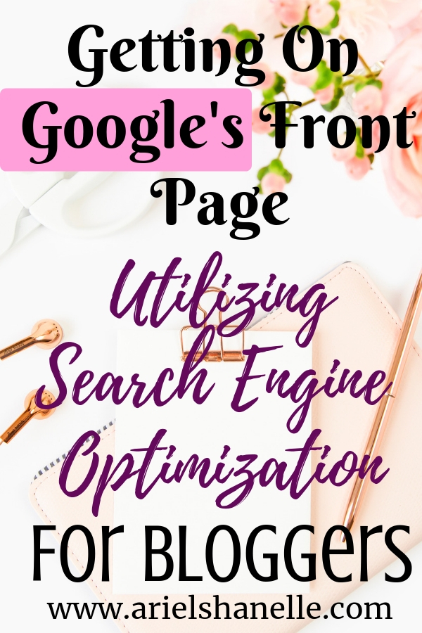 How to get on Google's front page using search engine opimization