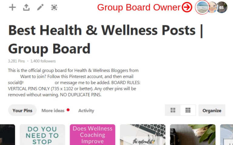 joining group boards