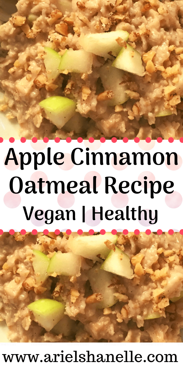 Apple Cinnamon Oatmeal Recipe | Vegan | Healthy
