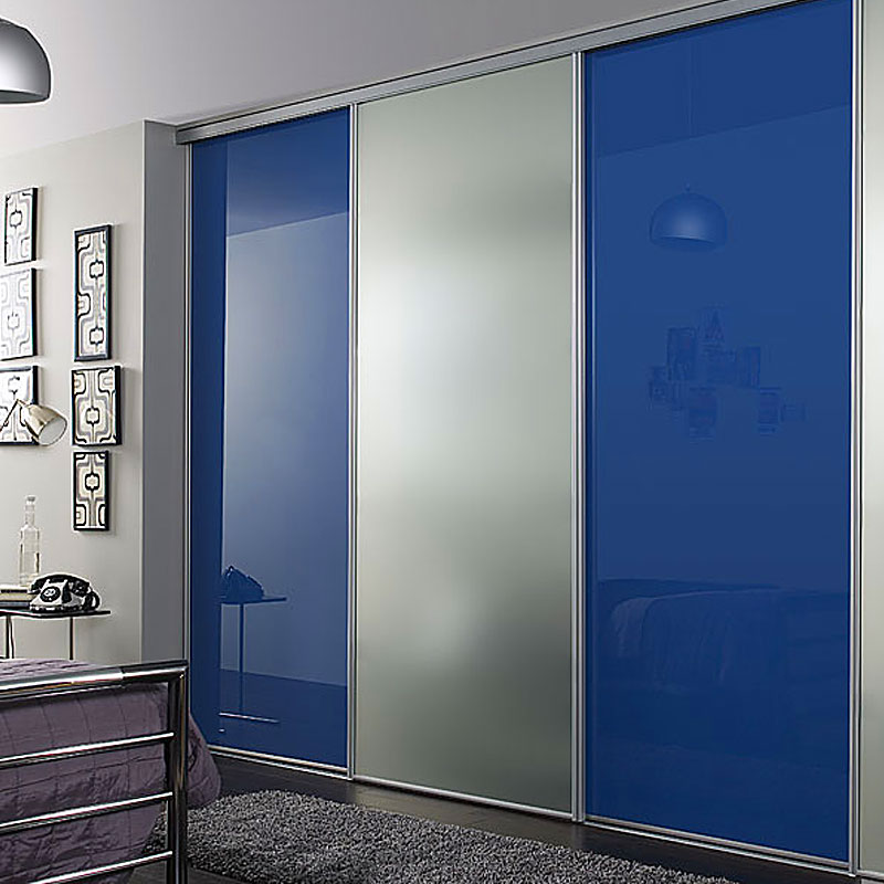 Aries Closet Door Blue And Silver CSD 06 Acrylic And