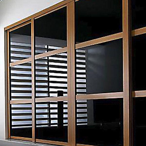 Aries Closet Door Black And Brown CSD 18 Acrylic And