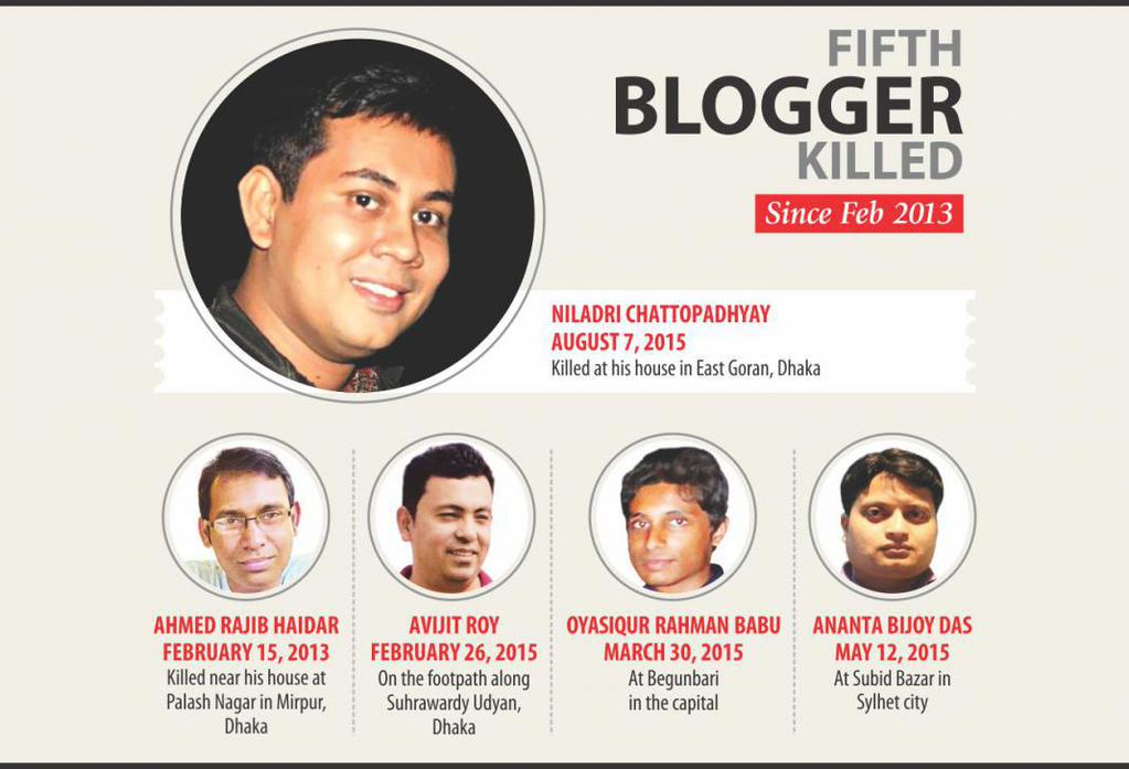 5th blogger killed since 2013