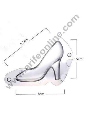Cake Decor Polycarbonate 3D Ladies Shoe Chocolate Mold Cake Decorating Chocolate Mould Tools