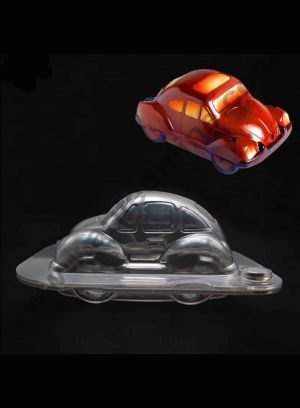 Cake Decor Polycarbonate 3D Vintage Car Chocolate Mold Cake Decorating Chocolate Mould Tools