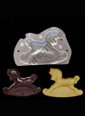 Cake Decor Polycarbonate 3D Horse Baby Cart Chocolate Mold Cake Decorating Chocolate Mould Tools