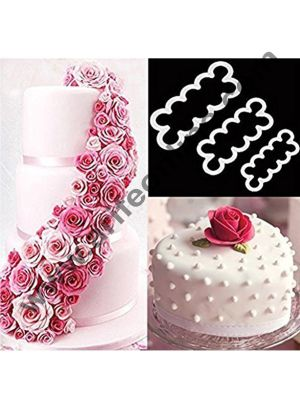 Cake Decor Easiest Rose Ever Cutter for Cake Decorating Set of 3 Cake Decorating