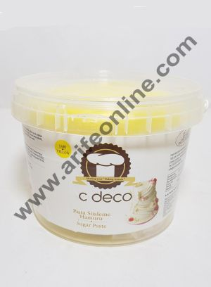 C Deco Sugar Paste (Fondant)-Yellow 1KG
