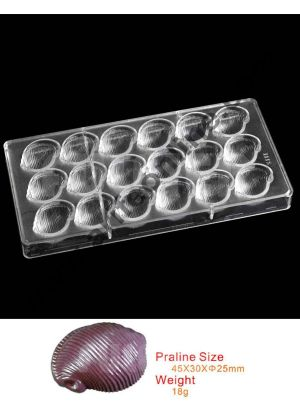 Cake Decor Plastic Conch Seashell Chocolate Mold, Cake Sweet Candy Confectionery Making Tools Baking Polycarbonate Chocolate