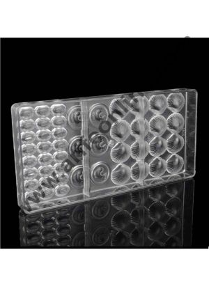 Cake Decor 46 Cavities Sea Animals Shell Fish Bean Shape Polycarbonate Chocolate Mold