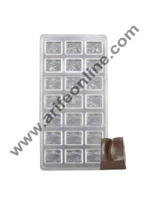 Cake Decor 21 Cavity Transparent Wave Small Box Square Clear Shaped Polycarbonate Chocolate Mould PC Mold Jelly Candy 3 D