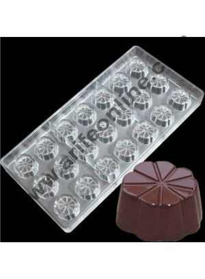 Cake Decor 21 Cavity Flower Shape Chocolate Mold Professionals Using Food Grade Polycarbonate Mold Candy Chocolate Baking Pastry Mold