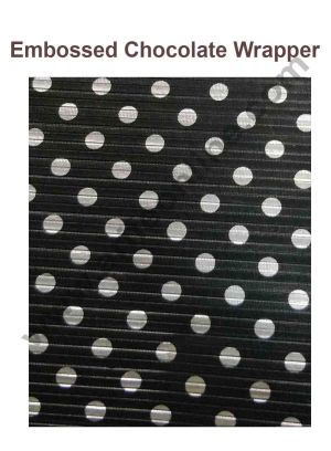 Cake Decor Chocolate Wrappering Foil, Embossed Chocolate Wrapper, 200 Sheets - 10in x 7in - Black with Silver Dots