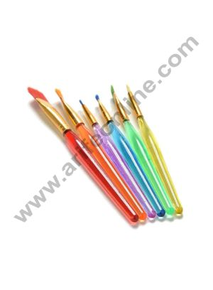 Cake Decor 6pcs/Set 6 Size New Nylon Hair Paint Brush Set Artist Watercolor Oil Brush Painting Supplies
